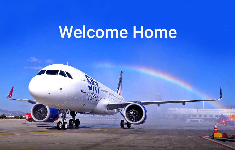 SKY express welcomes the first of six brand new Airbus A320neo