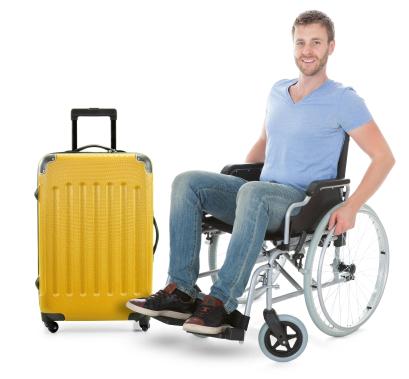 traveller in wheelchair